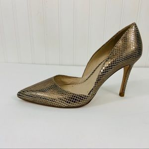 Louise te cie Gold heels shoes size 8